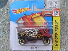 Hot Wheels 2015 #104/250 AERO POD red with BLOR wheels Case P New Casting 2015
