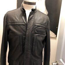 ELIE TAHARI  Men's designer leather jacket size LARGE