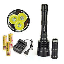 Rechargeable 6000Lm 3x XML T6 LED Tactical Flashlight Torch Light 18650 Battery