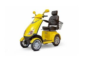 NEW E-Wheels EW-72 4-Wheel 700W High Power Electric Mobility Scooter, Yellow