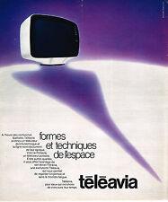 PUBLICITE ADVERTISING 054  1973  TELEAVIA   téléviseur de l'espace