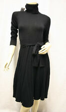 "$288 BCBG BLACK ""IDD65146"" WOOL T-NECK TIE SWEATER DRESS NWT XXS"