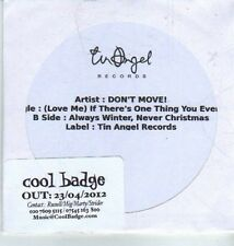 (DA259) Don't Move, (Love Me) If There's One Thing You Ever Do - 2012 DJ CD