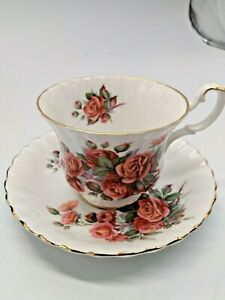 "Royal Albert Bone China Cup & Saucer ""Centennial Rose"" - 8 Sets Available"