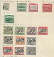 Dominica Early Stamps on Old Album Page Mixed Mint & used as Per Scan
