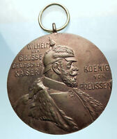 1897 GERMAN STATES PRUSSIA KING WILHELM I 100 Years Genuine Antique Medal i78398
