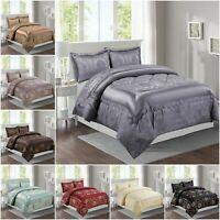 Double King Size Bedspread Set Comforter Complete Quilted Bedding Set W Pillows