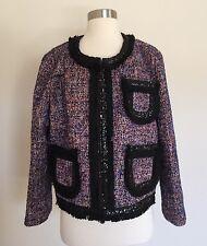 JCrew Tweed lady jacket with sparkly trim Blazer 16 Multi HO16 $268 F9250 SOLDOU