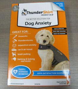 Thundershirt Dog Anxiety Calming Jacket Large Dogs 41-64 lbs Heather Grey