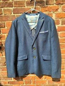 New TED BAKER Blue Mens  Blazer / Tailored Jacket Ted Size 6 New with out tags