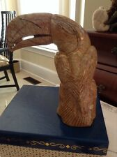 Toucan Hand Carved Hard Clay Statue Figurine Paperweight Made In Panama