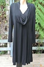 Katies Size L-16 NEW RRP$59.95 Black DRESS Loose Fit Cowl Neck Long Sleeve