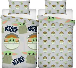 Star Wars Mandalorian Baby Yoda Single Duvet Cover Reversible Bedding Set