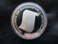 Medaille Deutschland Grundgesetz der BRD Silber 999 PP Gedenkprägung