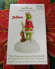 HALLMARK 2012 THE GROWING HEART OF THE GRINCH  STOLE CHRISTMAS  NEW  MAGIC