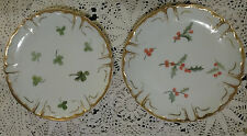 2 Antique LIMOGES FRANCE Plates 1891 Golden Trim
