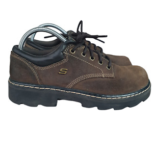 Skechers Shoes Womens 8.5 Brown Oxfords Parties Mate Suede 45120 UK 5.5 Eur 38.5