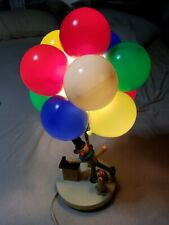 1960's Circus Clown Nursery Lamp With Balloons And Dog Light mid century