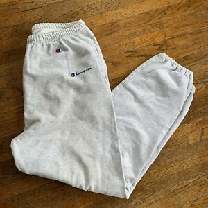 Vintage 90s Champion Script Spellout Sweatpants Men's Size Large Tall