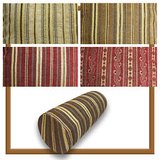 Bolster Cover*Stripe Chenille Neck Roll TubeYoga Massage Pillow Case Custom*Wk8b
