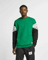 Nike Air Jordan Wings Classics Crew Sweatshirt Pine Green AO0426-302 Men's $90