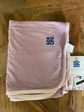 New listing New Kickee Pants Swaddling Blanket in Solid Sweet Pea with Macaroon Trim (2017)