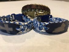 3x Survivor Bracelet Hand Made With God's Soldier Leather Emblem, Cross, Praying