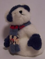 Boyds Bear Fritzle Ferklefrost Snowman Blue Scarf Mittens Plush Animal Stuffed