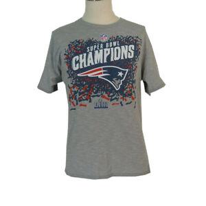 NFL New England Patriots Super Bowl champion t-shirt adult L grey short sleeve