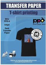 Ppd Inkjet Premium Iron On Dark T Shirt Transfers Paper Ltr 85x11 Pack Of 100