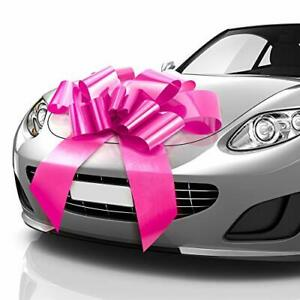 Thicker & Sturdier Big Car Bow (30 inch), Butterfly 30 Inch (Pack of 1) Pink