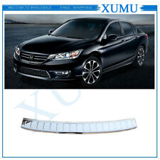 External Rear Bumper protection Sill plate cover For Honda Accord