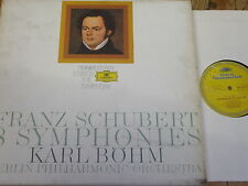 2720 062 Schubert 8 Symphonies / Bohm 5 LP box