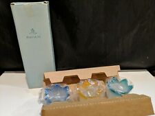 (3) PartyLite P7161 Jewel Frosted Tulip Glass Votive Tealite Candle Holders New