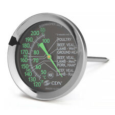 CDN ProAccurate Meat/Poultry Ovenproof Kitchen Thermometer w/ Glow In Dark Dial