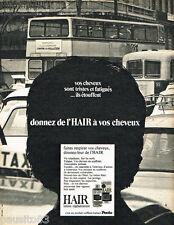 PUBLICITE ADVERTISING 085  1971  PENTO  les lotions pour cheveux HAIR