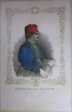1845ca FILIPPO MARIA VISCONTI litogra Bacchini Vigotti duca Milano signore Parma