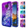 For Samsung Galaxy S7 Active Case | Liquid Glitter Bling Cover +Screen Protector