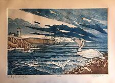 D.Nero 1982 Etching Lithograph LTD 104/200 Art Print!.