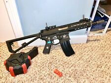 Airsoft EMG Knights Armament Gas Blowback PDW + AW Custom HPA Tapped Drum Mag