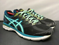 Asics GT-2000 4 Running Gym Fit Shoes Black Blue Womens Size 9.5 Fast Shipping!