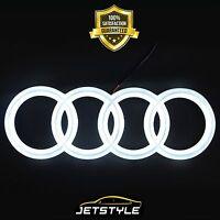 Audi LED Emblem A6 A7 Q3 Q5 Q7 Auto Logo Badge Ringe Kühlergrill Beleuchtetes