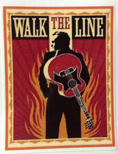 JOHNNY CASH  POP ROCK  ROCKABILLY DECAL STICKER WALK THE LINE