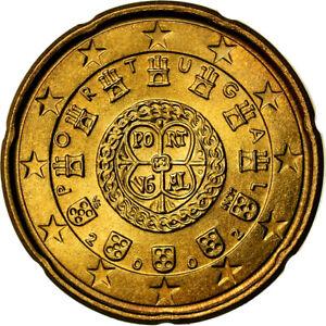 [#772925] Portugal, 20 Euro Cent, 2002, SUP, Laiton, KM:744