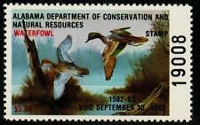 Alabama 1982 State Waterfowl Hunting Permit Stamp Green-winged Teal  #4