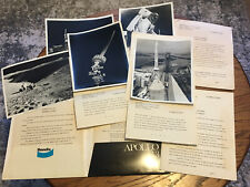Rare Original Apollo 13 Nasa Bendix Press Kit Photos Plus