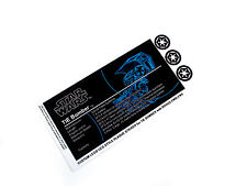 CUSTOM PLAQUE STICKERS for STAR WARS TIE BOMBER, lego 4479 ,toy displays, etc