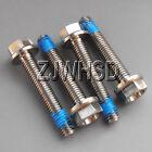 4pcs M5 x 30 mm Titanium Ti Screw Bolt Hexagon Hex Head Flange + Thread Loker