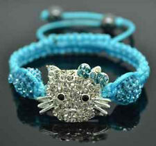Lovely Cat Girl Childen kids Shamballa Bracelet Jewellery gifts A