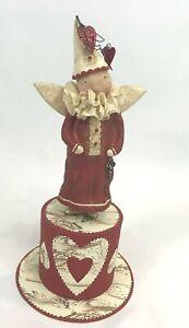 "Dee Foust Bethany Lowe 14"" Valentine's Day Clown Figure Key to my Heart Box"